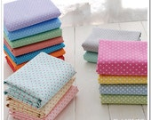 Polka Dot Cotton Fabric Bundle Dyed Twill for Handcraft Bag,Clothing,Quilt and Cushion