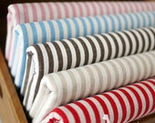 Cotton Linen Blend Stripe Fabric by the Yard for Table Cloth,Cushion,Bag,Home Decor DIY Materials