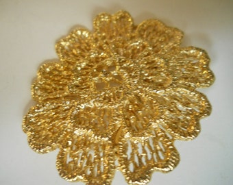 Pin 1960 gold filled pin 2 inches by 2 inches