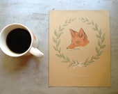 Fox Print Hand-Pulled Lithograph