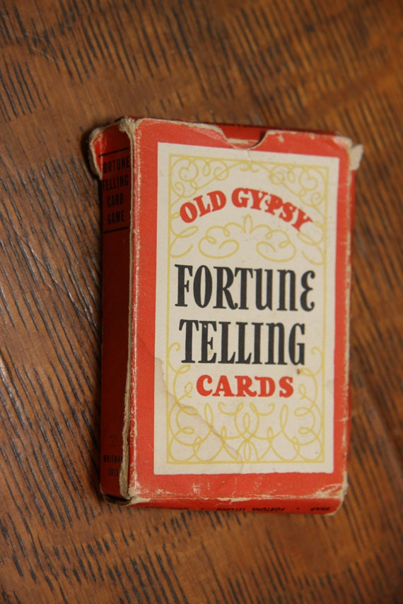 Antique Old Gypsy Fortune Telling Cards