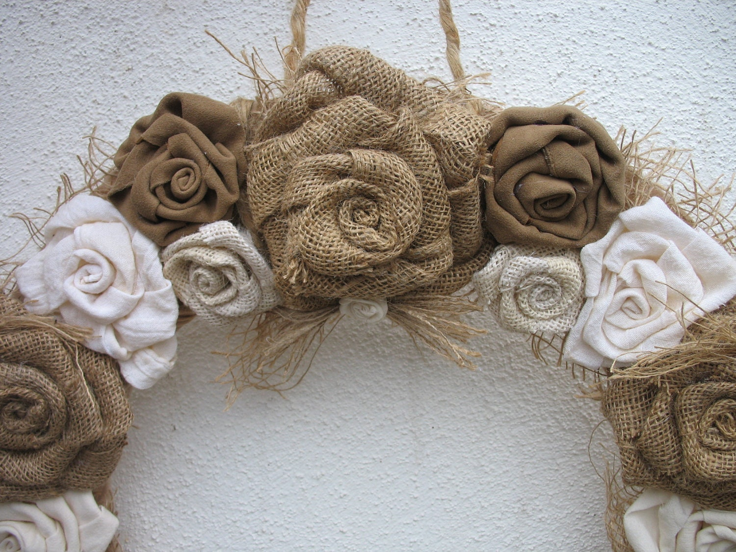 Table Paper Holder Burlap Rose Wreath For The Door Burlap Wedding Decoration