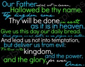 The Lord's Prayer 11x14 inch - PRINT ONLY