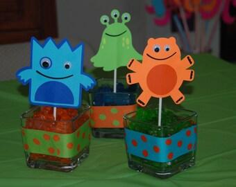 Little Monster Centerpiece Party Decorations