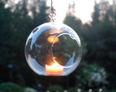 Glass Globe Candle Container