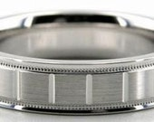 Mens 14K White Gold Wedding Band Ring  5MM Wide  Sizes 4-12  Free Engraving  New