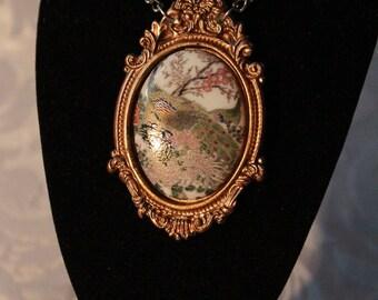 Porcelain Peacock necklace