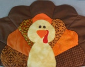 Turkey placemat and sliverware holder
