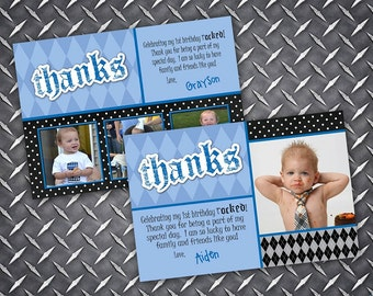Lil Rockstar Rebel Thank You Card