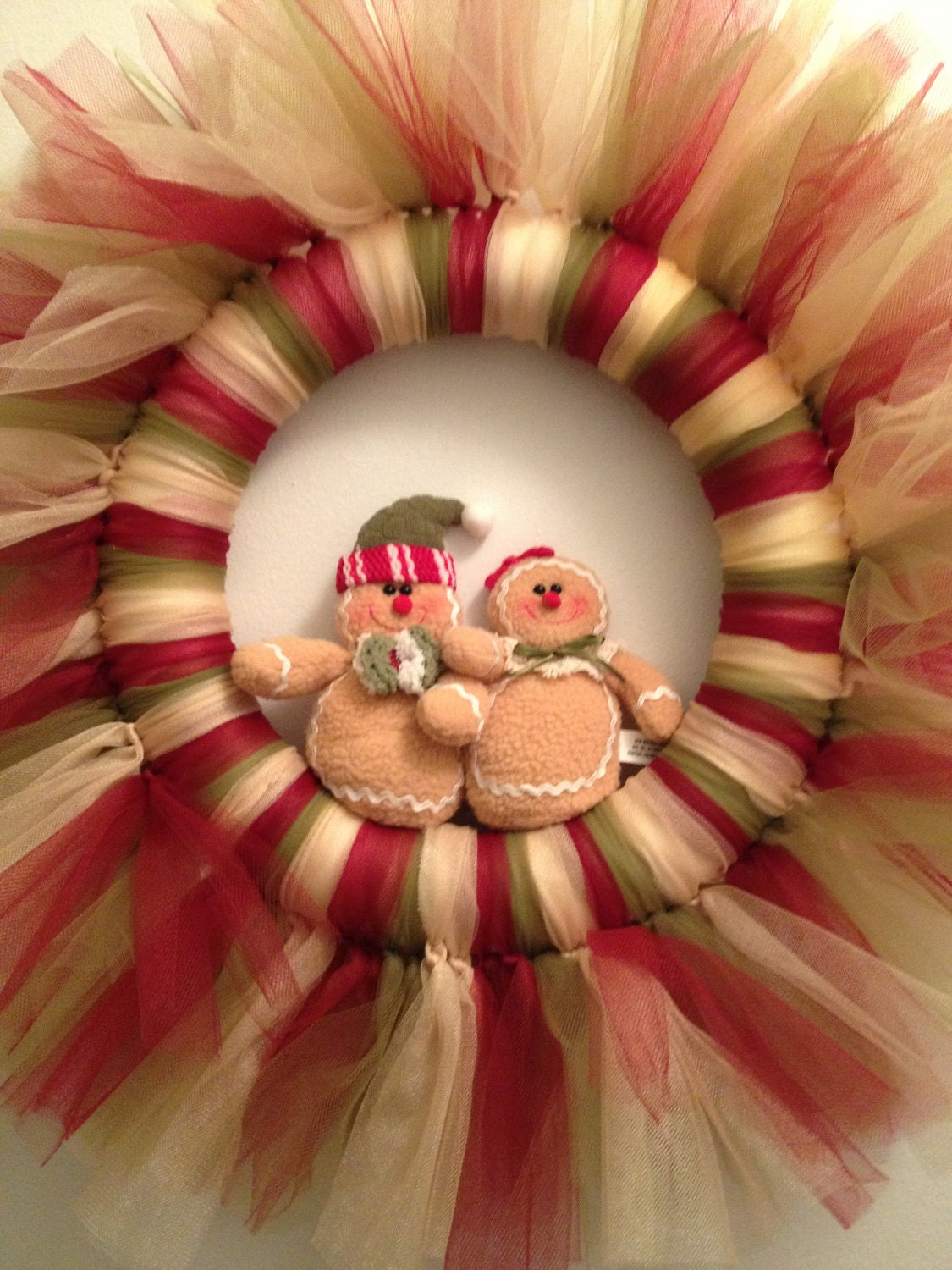 Christmas Gingerbread Tulle Wreath