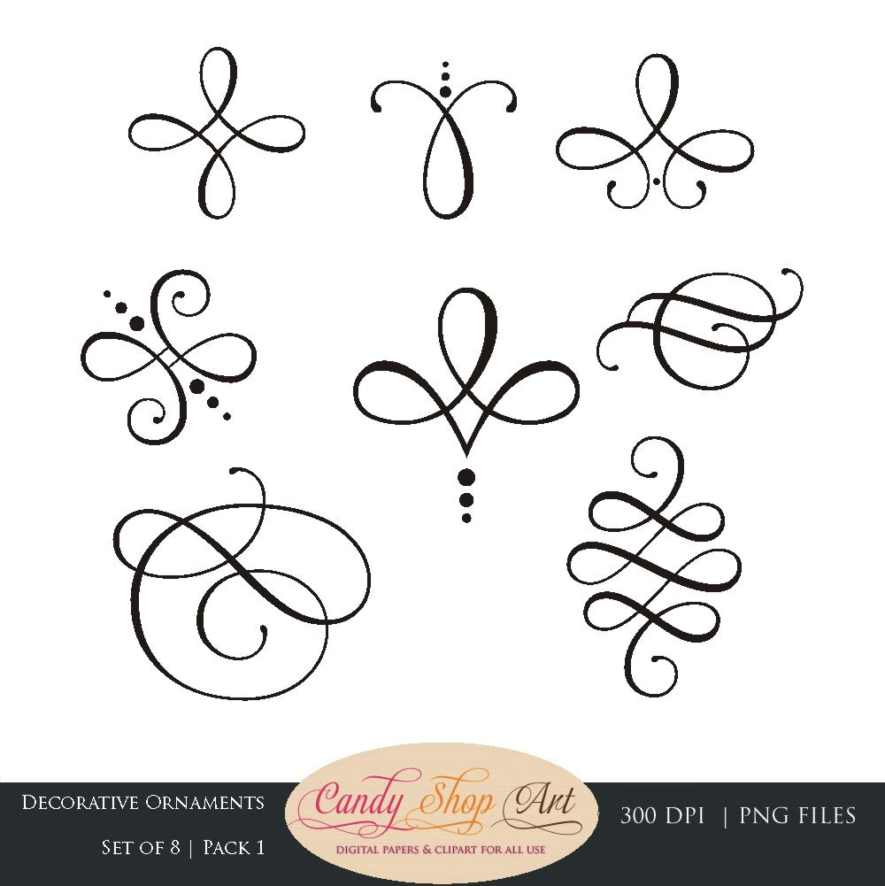 Calligraphy swirls clip art pictures to pin on pinterest