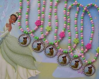 Princess Tiana Party Favor Stretch Necklaces Set of 6