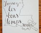 Louisiana: Laissez les Bons Temps Rouler Print