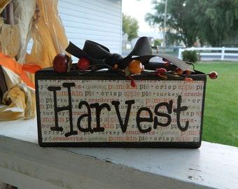 Fall-Harvest wood block
