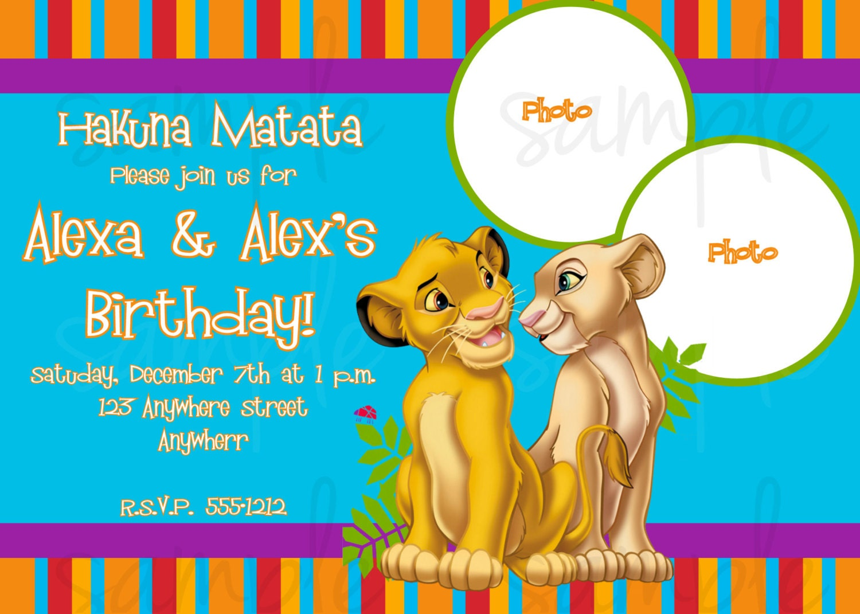 Lion King Birthday Invitation by LoveLifeInvites on Etsy