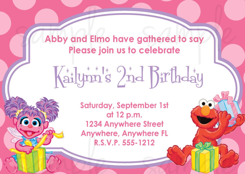 Sesame Street Custom Invitations as perfect invitation ideas
