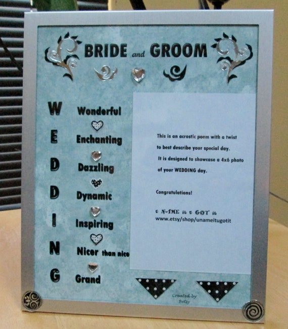 Wedding Poems For Bride And Groom: BRIDE AND GROOM Framed Poem By UNAMEitUGOTit On Etsy