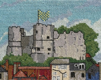 "Lewes Castle, Cross Stitch Kit (Finished size: 4""x5.5"", 10.5cmx14cm)"