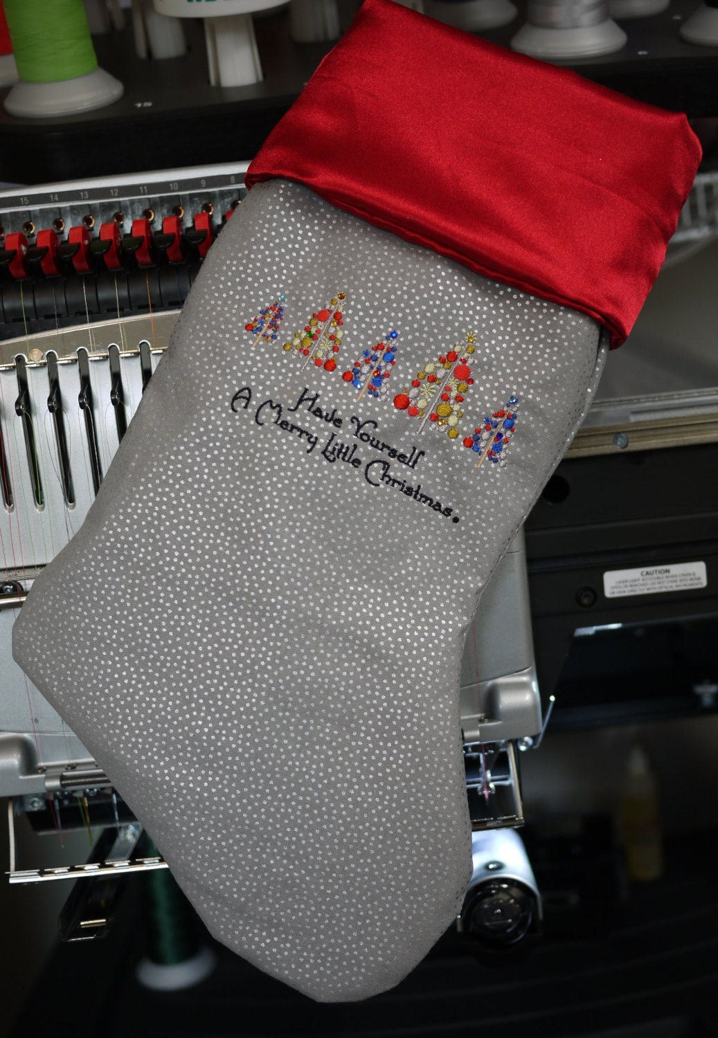 Handmade Christmas Stocking Personalized By