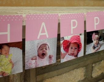 First Birthday Photo Banner