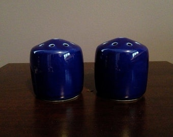 Vintage Cobalt Blue Salt and Pepper Shakers