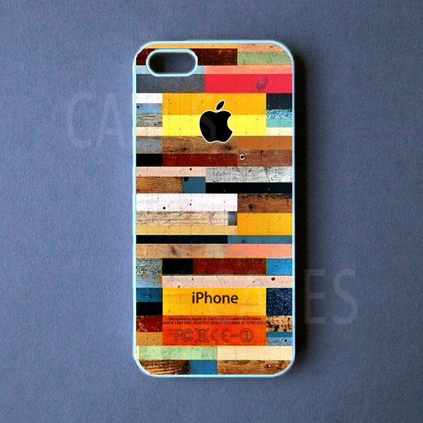 Iphone 5 Case Colorful Wood Iphone 5 Cover On The Hunt