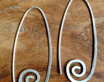 Swirl Silver Dangle Earrings