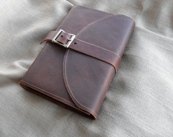 Leather Covered Bible with buckle closure