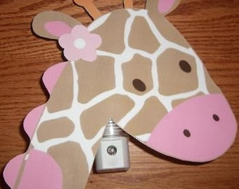Adorable Jungle Jill Giraffe Nursery Night Light
