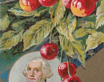 Antique Postcard Commemorating the Death of President George Washington.