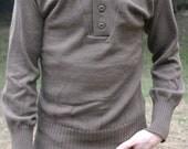 Vintage Brown Military Sweater