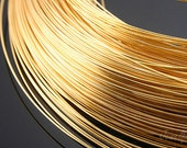 B541-0.8mm 1/2 Hard Type  Wire- 20M -Luster Gold Plated