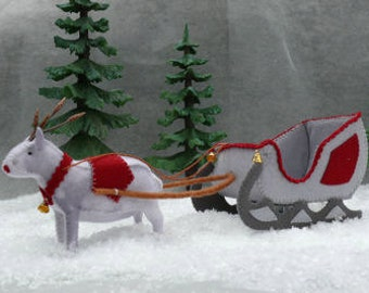 The Sleigh with Reindeer. DIY kit