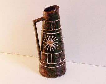 Vintage Clemens & Huhn ceramic handled vase 1960's West Germany WGP
