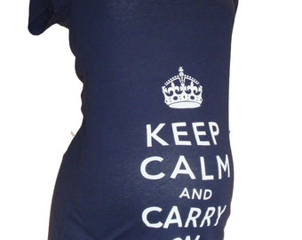 keep calm maternity tee