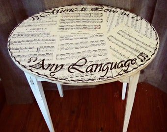 Love in Any Language Music Table