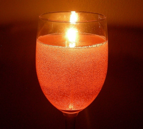 Items similar to gel candle wine glass sparkling champagne for Unusual home decor uk