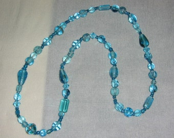 Delicate blue necklace