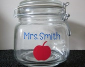 Personalized Treat Jar - Great Teacher Gift