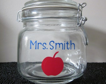 Personalized Treat Jar - Great Teacher Gift