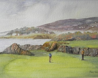 Greencastle Golf Course, Co Donegal. Ireland. Inishowen Golf. Limited Edition Print.