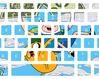 Finn and Jake Adventure Time Macbook Keyboard Decal Stickers