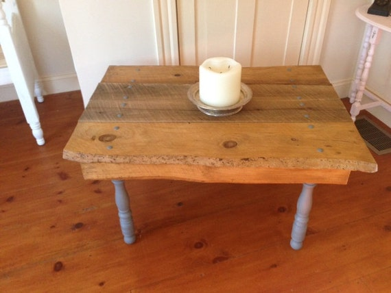 RESERVED for Haruka - Reclaimed Barn Wood (c. 1735) Coffee/Side Table