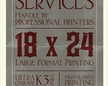"Printing, 16 x 20"", 18 x 24"", 20 x 30"", 24 x 36"" Epson Enhanced Matte, Poster Printing, Quality Printing"