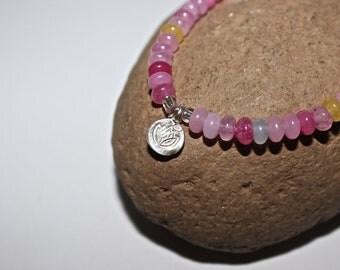Yoga Bracelet - Lotus bracelet, Mala Beads Bracelet, Boho Spiritual Jewelry, Zen Jewelry