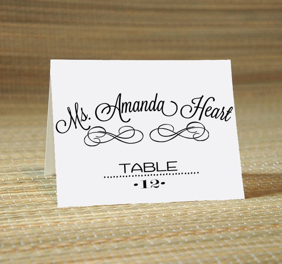 Wedding calligraphy for place card escort name