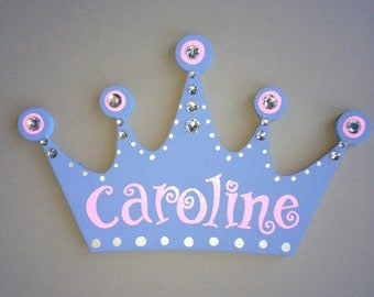 Hand Painted Personalized Princess Crown