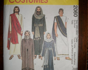 McCall's 2060 Adult Passion Play costumes  Size X-Small, S, M, L