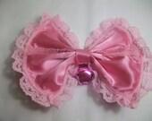 Princess Hair Bow  Pink lacey