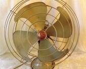 Antique GE Three Speed Oscillating Fan - Motor Runs Great